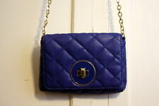 Banana Republic Cobalt Blue Quilted Small Long Chain Purse
