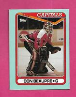 RARE 1990-91 TOPPS # O CAPITALS DON BEAUPRE  BOX BOTTOM CARD (INV# C9884)