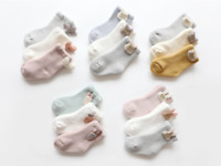 3 pairs baby infant cotton warm socks Terry-loop hosiery for Winter/Autumn