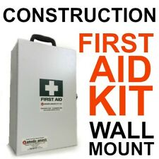 First Aid Kit Wall Mount CONSTRUCTION BUILDER Lockable with Key