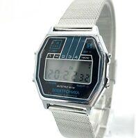 Vintage Mens Digital Watch ELEKTRONIKA Intergal CHN-54 Belarus Milan Bracelet