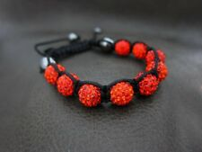 Genuine Crystal RED Sun Ball Charm Korne Bracelet Wrap for Shamballa Lover