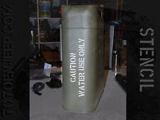 stencil pochoir jerrycan jerrican water eau 4 us jeep WILLYS GPW WW2