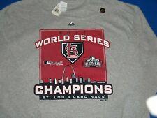 CARDINALS 2011 WORLD SERIES CHAMPIONS Men's 2XL long sleeve Tee T-shirt