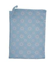 krasilnikoff Paño de Cocina Flor diagonal azul, blancas flores HEL