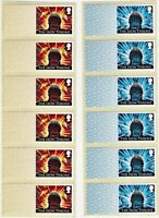 BLANK POST & GAME OF THRONES 2 x STRIPS OF 6 STRIP UNDATED MNH