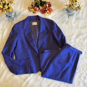 Pendleton Wms Sz 18 Two Piece Wool Blazer Skirt Suit Purple Periwinkle EUC!