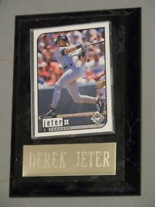 Derek Jeter Small Plaque with Baseball Card