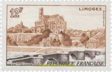 EBS France 1955 Tourism: Limoges, cathedral and bridge YT 1019 MNH**