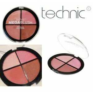 MEGA BLUSH By Technic With Four Beautiful Compact Quad Shades For Cheeks Makeup
