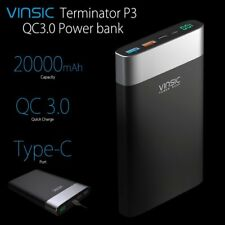 Vinsic QC 3.0 Quick Charger USB-C Power Bank Portable External Battery 20000mAh
