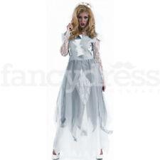 Ladies Halloween Zombie Corpse Bride Fancy Dress Costume Ghost Ghoul XL 20-22