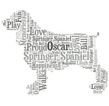 Personalised Springer Spaniel Dog Lovers Word Art Print Great Gift