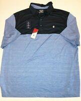 IZOD New Big & Tall Blue Revival UPF Active Polo Shirt Men's 2XLT Blue