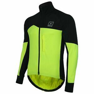 Windproof Cycling Jacket Long Sleeve Bike Coat Soft Shell Winter Thermal Fleece