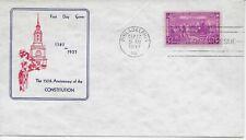 US Scott #798, First Day Cover 9/17/37 Philadelphia Single Constitution