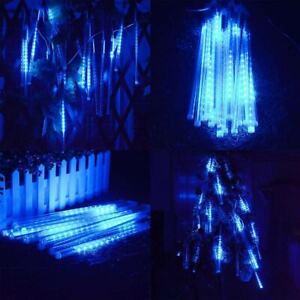 30cm 144 LED Lamp Meteor Shower Rain 8 Tube Xmas Snowfall Tree Outdoor Light SCA