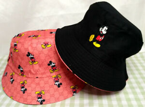 GG1 Mickey Mouse Reversible Bucket Hat Outdoor Fashion Beach Cap Unisex