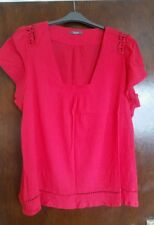 LOVELY LADIES COTTON  PLUS SIZE 26  SHORT SLEEVE REDY/ PINK TOP BY SOUTH . IMMAC