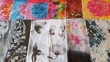 JOBLOT 24 piezas de diseño de flores Chifón Bufanda 50x160 cm nuevos al por mayor Lote 24