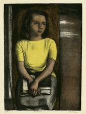 BENTON SPRUANCE, 'ADOLESCENT - MARY STURGEON', signed color lithograph, 1948