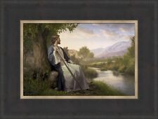 Simon Dewey PEACE I LEAVE WITH YOU 12x15 framed textured paper of Jesus Christ