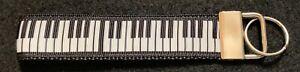 PIANO KEY FOB Keychain Loop Handmade (A1) Music Keyboard Ebony Ivory