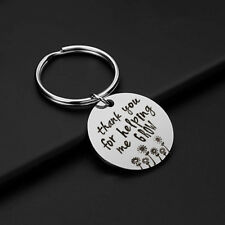 'Teacher Thank You For Helping Me Grow ' Key Ring Keychain Keyring Gifts GR