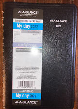 At A Glance My Day 2022 Daily Appointment Bookplanner 5 X 8 G100 00