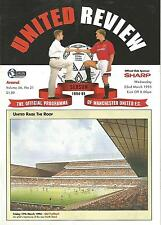 Manchester United v Arsenal - Premiership - 22/3/1995 - Football Programme