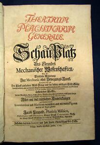 Leupold Sammelband des Theatrum machinarum mit 2 Werken 1724 Wasserbau sf