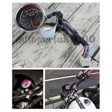 Round 12V Motorcycle Odometer Speedometer MPH KM/H Gear position EFI FUEL METER