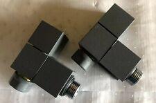 Square Angled Radiator Valve - Anthracite VA019