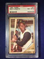 "1962 Topps Bob ""Roberto"" Clemente #10 PSA 8 Pittsburgh Pirates HOF"