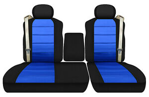 car seat covers black-med blue front 40-60 seats w/ ISB fits Ford f150 01-2003