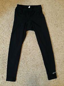 Terry Padded Cycling Legging Black Pants Womens XL