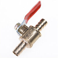 6mm  Hose Barb Inline Brass Water/Air Gas Fuel Line Shut-off Ball Valve v!