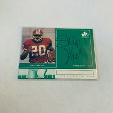F79925  1998 SP Authentic Player's Ink Green #SH Skip Hicks AUTO REDSKINS