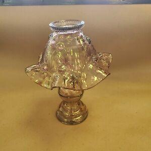 Fenton cabbage rose 3 piece fairy lamp