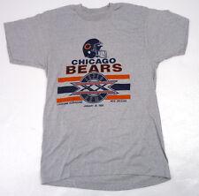 True Vintage 1986 Chicago Bears Super Bowl XX Superdome New Orleans T-Shirt S