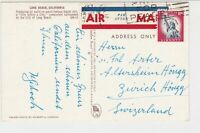 United States America 1981 to Switzerland Long Beach Pic Stamps Card ref R 18021