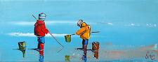 Authentique DOUCHEZ Tableau Peinture huile sur toile au couteau Drouot Artmajeur