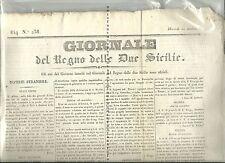 Giornale del Regno delle Due Sicilie -1834(Armenia,aereostati,suicidio,Durant)