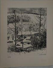 André JACQUEMIN - Paysage sous la neige, 1946 - Gravure originale signée