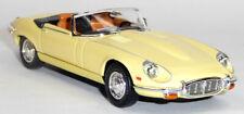 1971 Jaguar E-Type Cabrio Sammlermodell ca. 1:43 / 11cm gelb Lucky Diecast