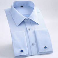 Luxury New Men's French Cuff Business Casual Formal Slim Dress Shirt CS386