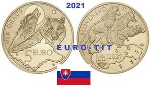 5 €  SLOVAQUIE     COMMEMORATIVE      2021    LOUP    2021       disponible