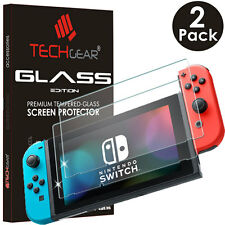 2 Pack of TECHGEAR TEMPERED GLASS Screen Protector Covers for Nintendo Switch