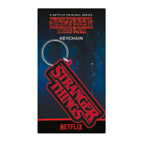Official Netflix STRANGER THINGS Rubber Keyring Keychain Novelty Gift LOGO