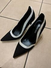 NEW Black &White Suede Feel Heels Size 5